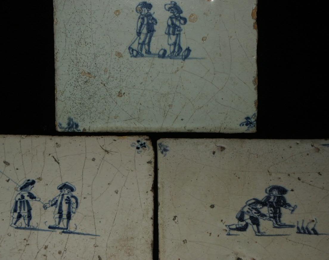 Antiek Delfts Blauw Merktekens.In Stijl Verkoop Volkskunst En Etnografica
